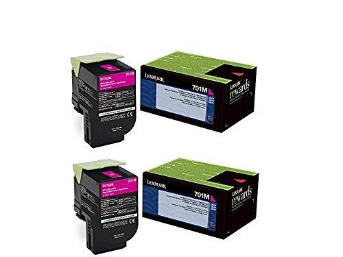 Lexmark 70C10M0 Magenta Return Program Toner Cartridge 2-Pack for CS310, CS410, CS510