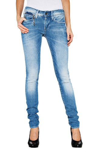 G-STAR RAW Damen Midge Sculpted Low Waist Skinny Jeans, Blau (medium Aged 5783-071), 28W / 32L