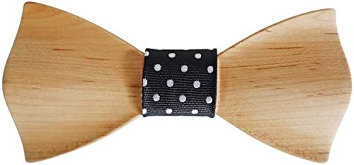 Men s Wooden Bow Tie Pre shaped Bow Tie No Hassle of Folding and Tying Perfect for Business product image