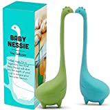 Tea Infuser Set of 2 - Baby Nessie Loose Leaf Tea Infusers with Long Handle Neck & Cute Ball Body Lake Monster Food Grade Silicone Tea Strainer & Tea Steeper with Gift Box by Futhommin (BABY NESSIE)