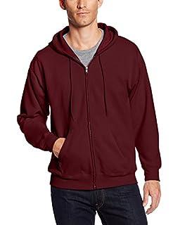 Hanes Men's Full-Zip Eco-Smart Fleece Hoodie, Maroon, X Large (B072M77MZF) | Amazon price tracker / tracking, Amazon price history charts, Amazon price watches, Amazon price drop alerts
