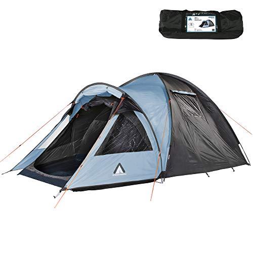 10T tent Glenhill voor 3 of 4 personen en diverse Kleuren naar keuze, koepeltent met Full XXL slaapcabine, 5000 mm campingtent, waterdichte iglo-tent met 2 ingangen.