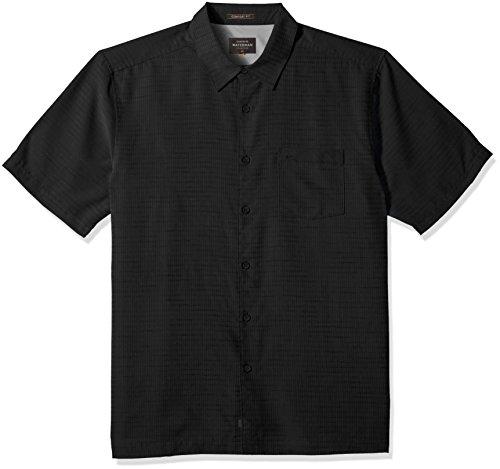 Quiksilver Waterman Men's Centinela 4 Button Down Shirt, Black, L