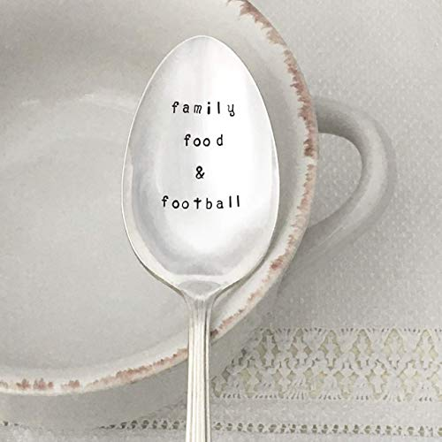 Family Food and Football vintage serving spoon