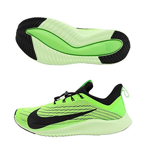 Nike Kids' Grade School Future Speed 2 Running Shoes (4, Electric Green/Black)