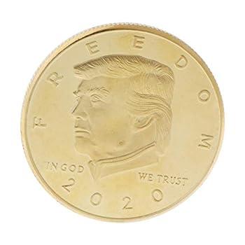 MAOSUO 2018 President Donald Trump Commemorative Coin 2nd Amendment Freedom Souvenir