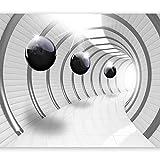 murando Fotomurales 350x256 cm XXL Papel pintado tejido no tejido Decoración de Pared decorativos Murales moderna de Diseno Fotográfico Abstracto Tunel 3D a-C-0001-a-a
