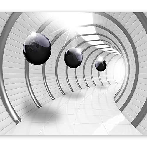 murando Papier peint intissé 400x280 cm Décoration Murale XXL Poster Tableaux Muraux Tapisserie Photo Trompe l'oeil Abstrait Sphere 3D Blanc Noira-C-0001-a-a