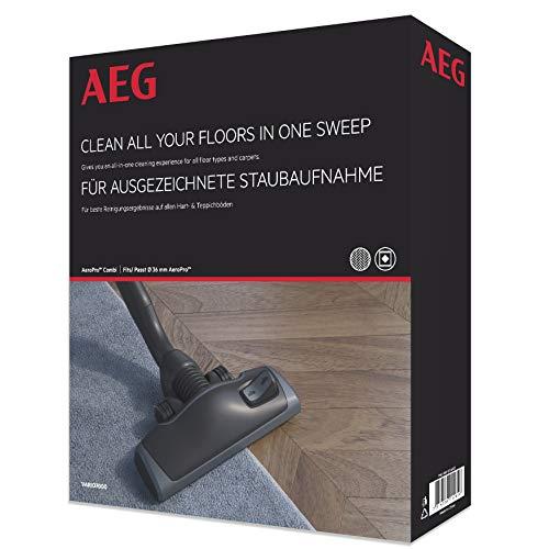 AEG Vario 7000 AeroPro Kombidüse (für Teppich und Hartboden, top Saugleistung, optimale Staubaufnahme, extra leise, wendig, mit Parkfunktion, für alle Sauger mit 36 mm Ovalrohr, schwarz)