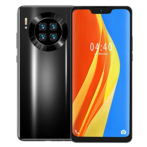 M39 Unlocked Smartphone, 4 Core Unlocked Cell Phone,6.7'HD Screen, 128G Memory Card, Android Mobile Phone, Dual SIM Card Slot, 8MP + 13MP Cameras(Black)