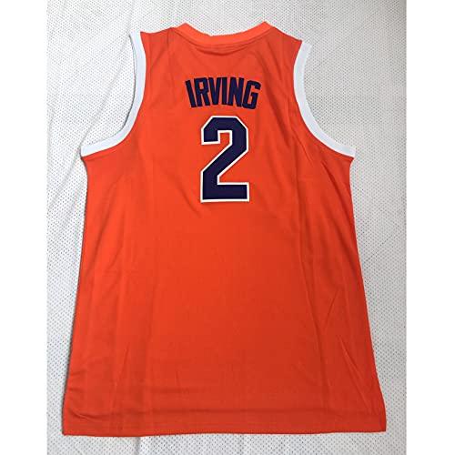 GAOJR Camiseta De Baloncesto Uncle Drew #2 / #34 Sports Chaleco Camiseta Sin Mangas, Secado Rápido Transpirable   Naranja Irving-2-XL