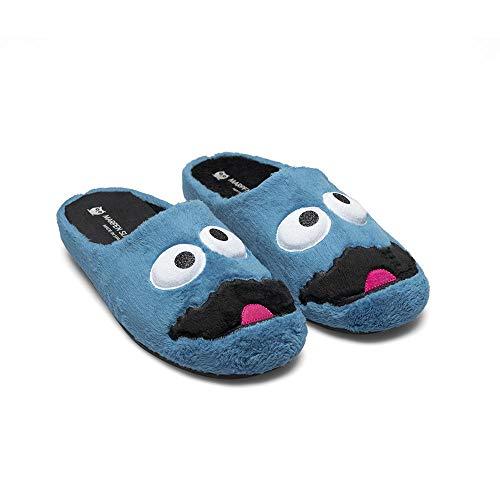 Slippers Monstruo Azul Zapatillas de Estar por casa Hombre Mujer Unisex Invierno Otoño - 41 EU