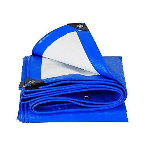 Impermeabilizzanti Coperture Parapioggia Telone Impermeabile, Telone Addensato Con Gommini, Protezione Solare Antivento, Copertura For Piscina In Tessuto A Tenda Da Sole ( Color : Blue , Size : 4×4m )