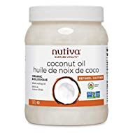 Nutiva Organic Steam-Refined Coconut Oil, 1.6 L | Non-GMO, Fair Trade | Vegan, Keto & Paleo | Neutral Flavor and Aroma for Cooking & Natural Moisturizer for Skin and Hair