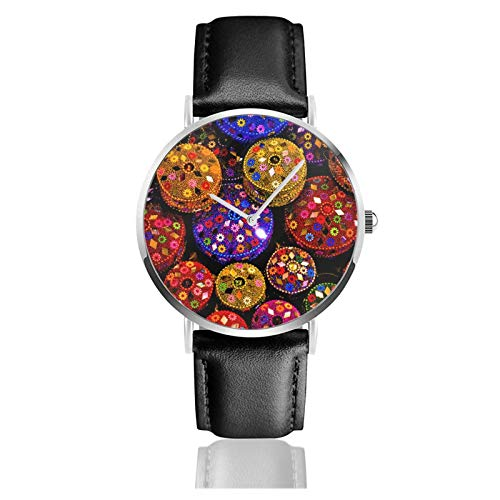 Artistic Japan Zebra Men Wrist Watches Genuine Leather For Gents Teenagers Boys