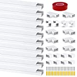 Chesbung Kabelkanal Selbstklebend 0.4m, 10er Pack Kabelkanal, Mini Kabel Verstecken, Kabelschacht...