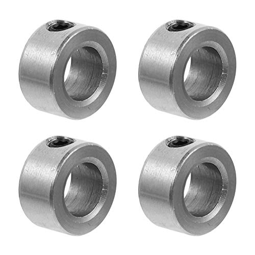 Balacoo 4pcs Lead Screw Lock Shaft Lock Collar T8 Lead Screw Stainless Steel Material Lock Ring Isolation Apply for 3D Printer Silver 1. 3x0. 7x0. 7cm