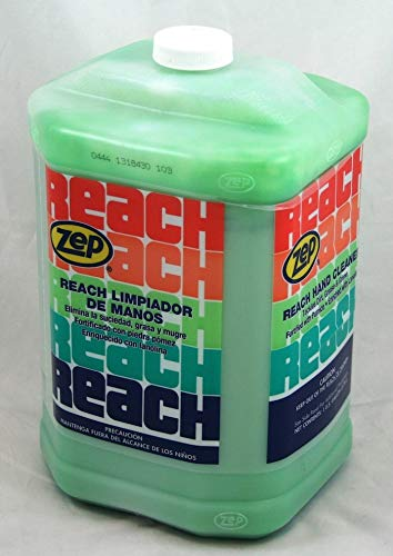 Zep Reach Hand Cleaner, 4-1 Gallon Bottles, Pumice Soap, Effectively Removes Industrial Soils and Grease, Phosphate-Free & Mild on Skin (92524)