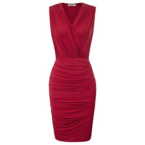 Mujer Vestido sin Mangas Lápiz para Cóctel Fiesta M CL011044-2