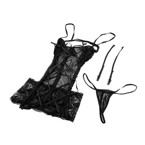 Fantasyworld 2 Couleurs Lingerie Sexy Mesh Femmes Jupe G Chaîne Porte-Jarretelles Sexy Lady Lace sous-vêtements, vêtements de Nuit, vêtements de Nuit Babydoll Hot Vente