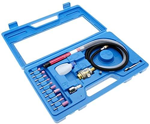 eoocvt 56000 RPM 90psi 1/8'' Air Micro Grinder Kit Mini Pencil Polishing Rotray Cutting Tool Kit 17pcs