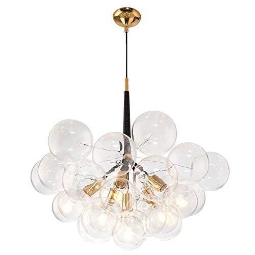 Lustre à suspendre en verre moderne créatif, boule magique bulle suspension moléculaire plafonnier encastré pour cuisine chambre salon