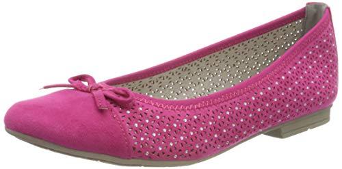 Jana 100% comfort Damen 8-8-22111-24 Geschlossene Ballerinas, Pink (Pink 510), 37 EU