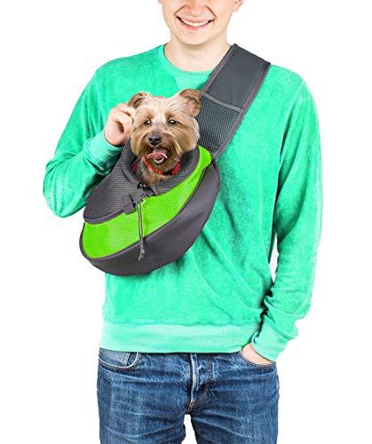 Cuddlissimo! Pet Sling Carrier - Small Dog Cat Sling Pet Carrier Bag Safe Reversible Comfortable...