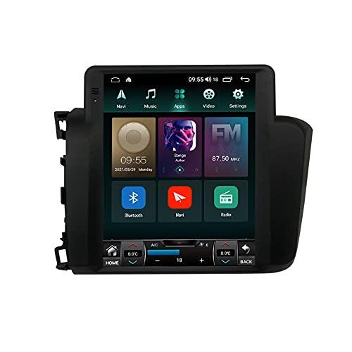 ADMLZQQ para Honda Civic 2015-2020 Android 9/11 Radio para Auto Estéreo GPS Reproductor Multimedia FM USB Mandos Volante Enlace Espejo Bluetooth Cámara De Visión Trasera,Displacement 2.0,TS1