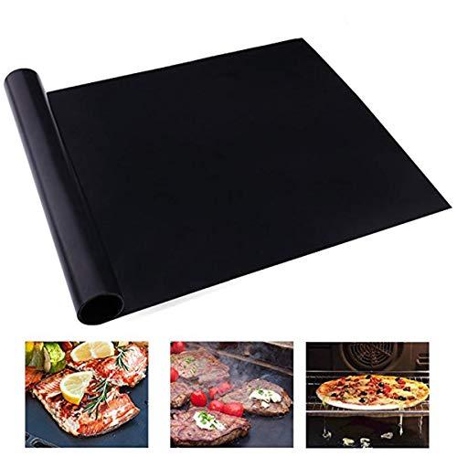 SOONHUA BBQ Grillmatte, 2 Stück, wiederverwendbar, antihaftbeschichtet, feuerfest, für Holzkohlegrill, Elektro-Gasgrill und Elektrogrill 40*50cm 2 Stück.