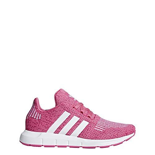 adidas Unisex-Kinder Swift Run J Fitnessschuhe, Pink (Seroso/Ftwbla/Seroso 000), 37 1/3 EU