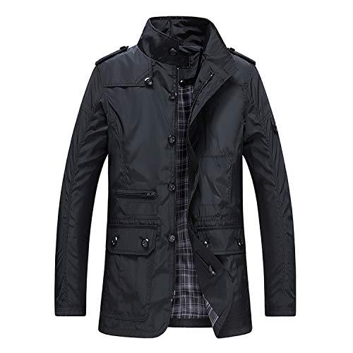 Mannen Trench Jas voor Dunne Man Casual Khaki Rits Windbreaker Streetwear Bovenkleding