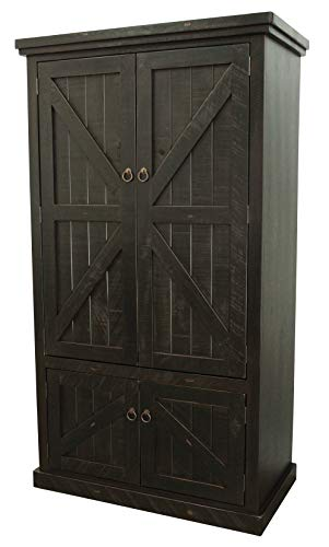 Buy Bargain American Heartland Rustic Double Door Armoire, Rustic Antique Black