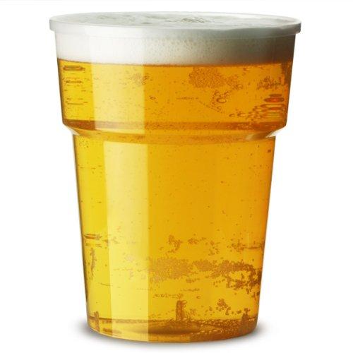 Katerglass verres en plastique/pinte CE 568 ml Lot de 25 gobelets jetables à bière en plastique, verres en polypropylène