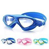 ANZQHUWAI Infantiles antivaho Gafas de natación de Verano a Prueba de Agua HD Lentes Transparentes niños y niñas los niños Que nadan los vidrios vidrios