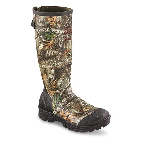 Guide Gear Men's Ankle Fit Insulated Rubber Boots, 1,600-gram, Realtree Edge, 11D (Medium)