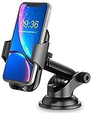 Cocoda Soporte Movil Coche, Salpicadero/Parabrisas Soporte Móvil para Coche, 360° Rotación Brazo Extensible Sujeta Porta Movil Coche con Botón de Liberación Rápida Compatible con iPhone Samsung ect