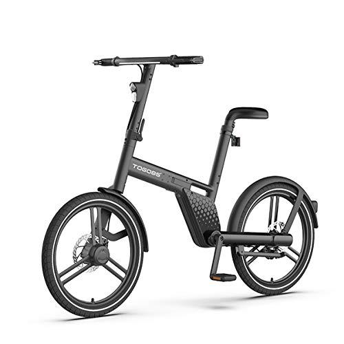 TOGO85° Bicicleta eléctrica plegable con eje de 20 pulgadas, motor central, hermosa...