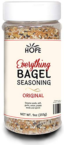 Everything Bagel Seasoning Blend - Bagel Allspice, Sesame Seasoning Spice Shaker, Delicious Blend of Sea Salt & Spices, Garlic Powder, & Onion Flakes, Multi Seasoning Jar, Keto & Gluten Free Facility