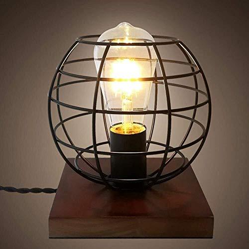 Stella Fella Creativo, Industrial, Clásico, Minimalista, Lámpara De Escritorio LED con Esfera Pantalla Diseñado Ahuecado For La Decoración, Dormitorio, Estudio