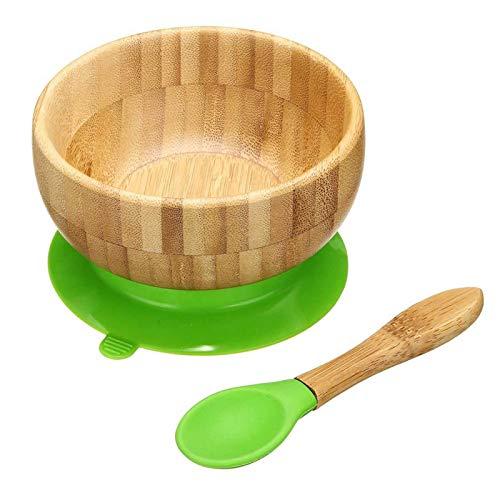 Tree2018 Bambus-Schüssel für Kinder, mit Saugnapf, für Kleinkinder