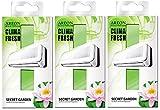 Areon Clima Fresh Ambientador Casa Jardín Secreto Aire Acondicionado Verde Original Perfume Hogar Salón Habitación Oficina Tienda Duradero Moderno Olor ( Secret Garden Pack de 3 )