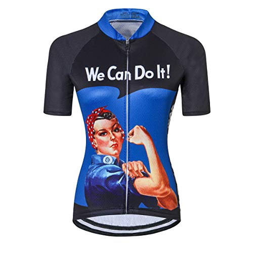 Bike Jersey for Women Cycling Shirt Short Sleeve Tops We Can Do It L