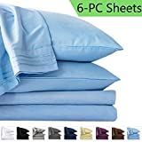 LIANLAM King 6 Piece Bed Sheets Set - Super Soft Brushed Microfiber 1800 Thread...