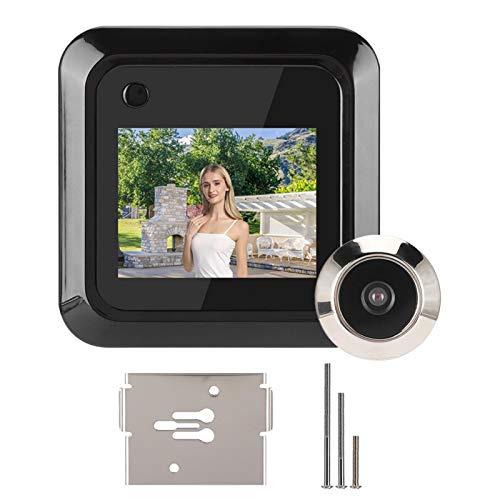 Cámara de Mirilla de Puerta, Mirilla de Visor de Puerta de Gran Angular de 145 °, LCD HD de 2,4 Pulgadas con Pilas Digital para apartamento en casa