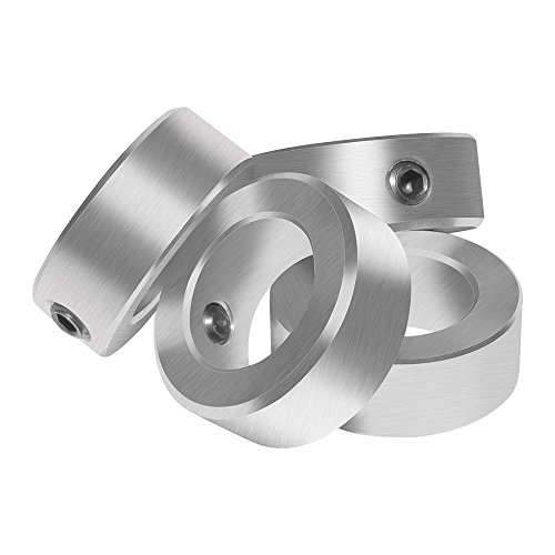 """Aobbmok 5/8"""" Bore Solid Steel Style Zinc Plated Set Screw Shaft Collars for Lawn Tractor,Garage Doors"""