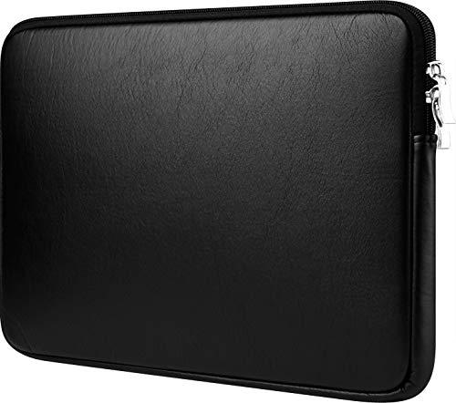 CCPK Laptop-Hülle für Apple MacBook Pro 15 Zoll (38,1 cm) mit Touch Id A1990 A1707 ASUS VivoBook ZenBook Dell Xps 15 in Microsoft Surface Laptop 3 Tragetasche, PU-Leder, Schwarz