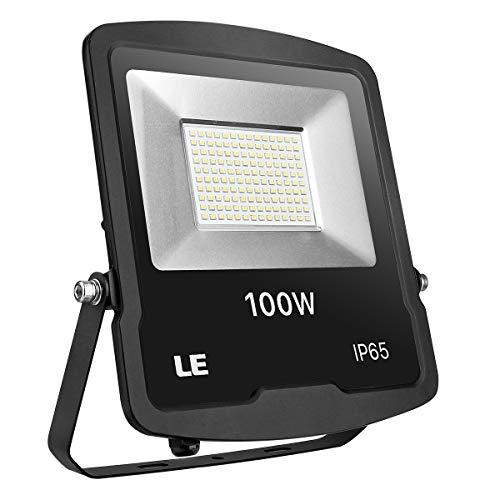Le Proiettore LED 100 W 8000 lm impermeabile IP65, proiettore esterno LED 5000 K, luce bianca del giorno, illuminazione di sicurezza per cortile, giardino, casa, terrazza, camera, ingresso, ecc.