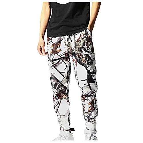 JUNGE 2021 Mens Sweatpants, Cargo Pants Black Mens Joggers Pant Lounge Track Pants Slacks for Men Sagging Pants Boys Drawstring Sweatpants with Pockets Workout Trousers Casual Sport Overalls Pants