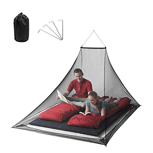 ORYX Mosquito Net for Bed Outdoor Camping Tent, Camping Bug Net Mosquito Tent for Mesh Tent Cot, Mosquito Netting for Patio 94x67x51 Inch(Black)